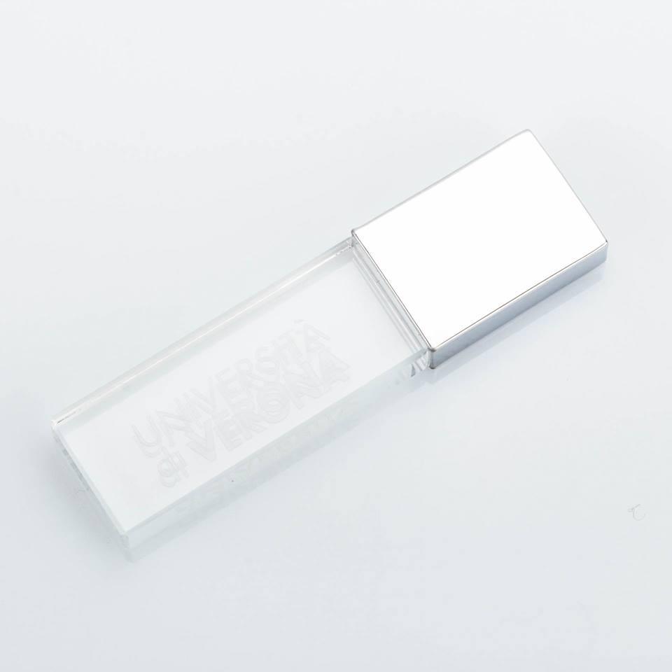 Chiavetta USB cristallo 8Gb con logo UNIVR