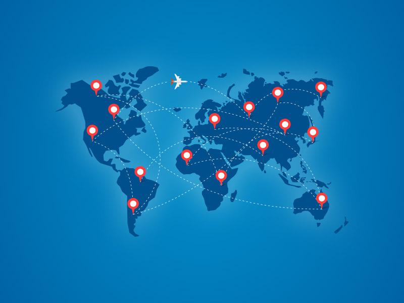 Map of International agreements